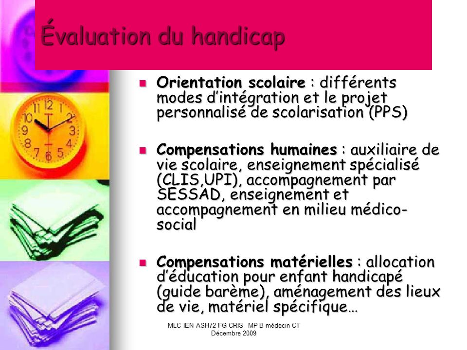 Évaluation du handicap