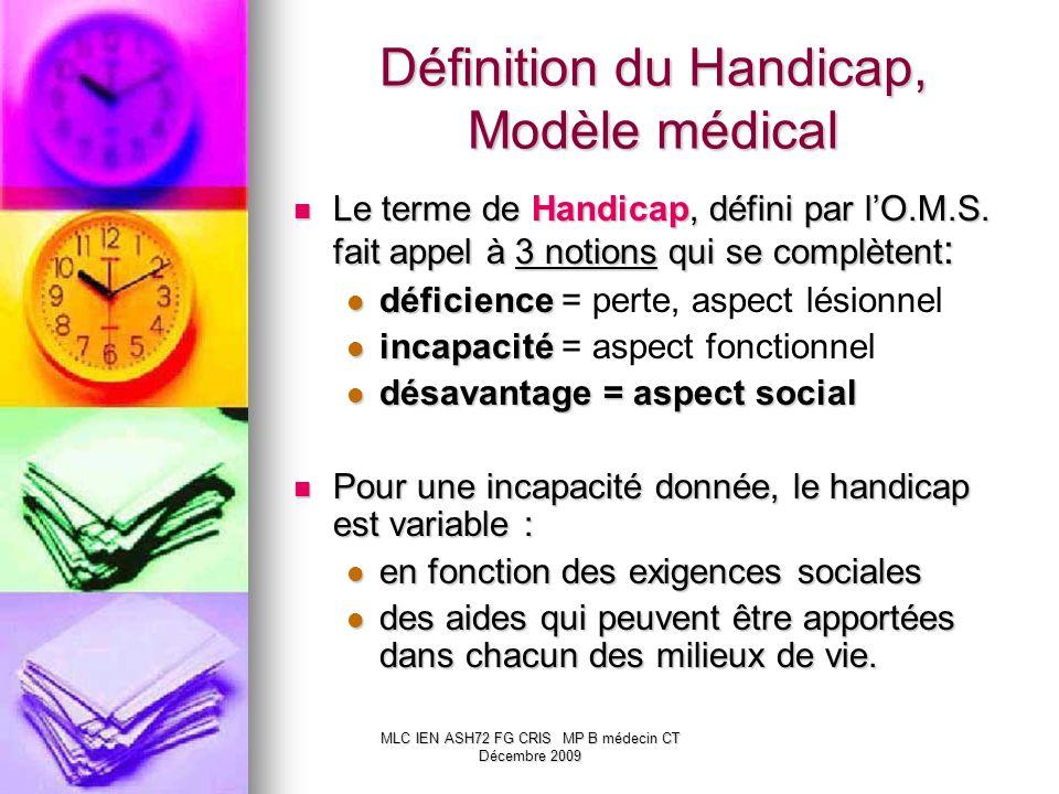 Définition du Handicap, Modèle médical