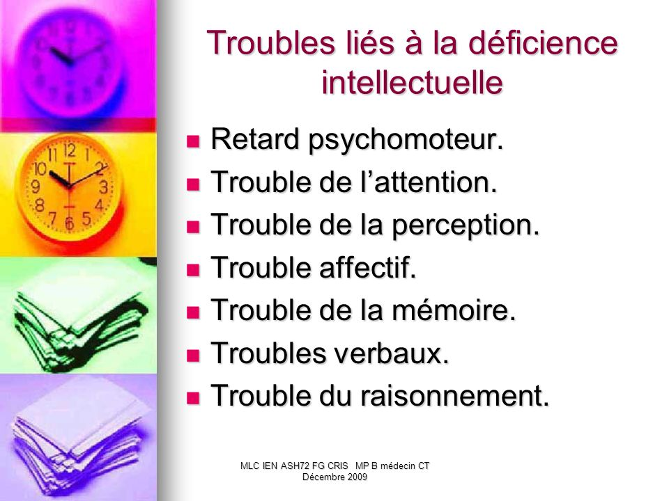 Troubles liés à la déficience intellectuelle