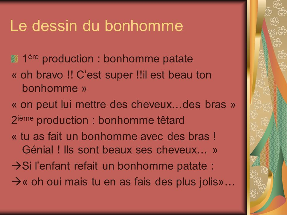 Le dessin du bonhomme 1ère production : bonhomme patate