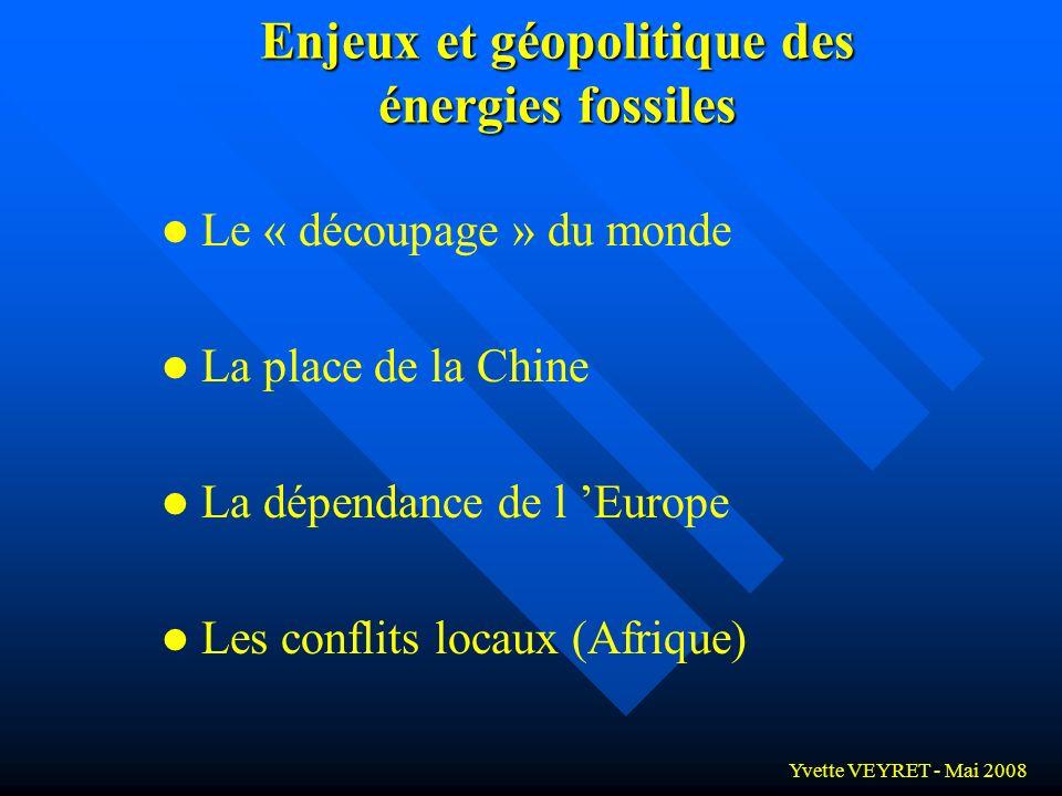 Enjeux et géopolitique des énergies fossiles