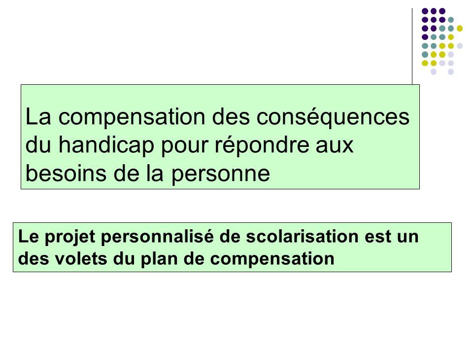 La compensation des conséquences du handicap pour répondre aux besoins de la personne
