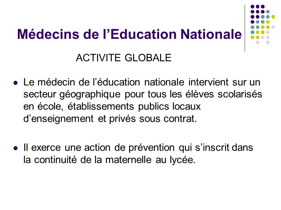 Médecins de l'Education Nationale
