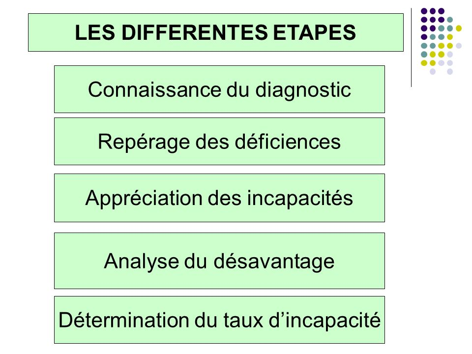 LES DIFFERENTES ETAPES