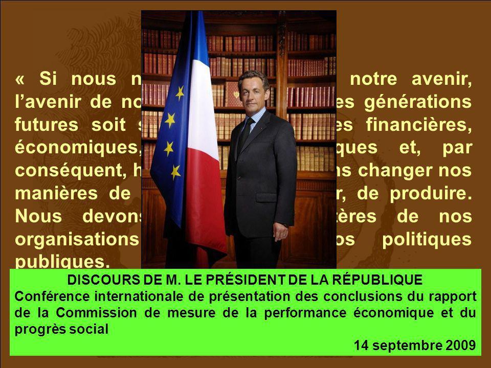 DISCOURS DE M. LE PRÉSIDENT DE LA RÉPUBLIQUE