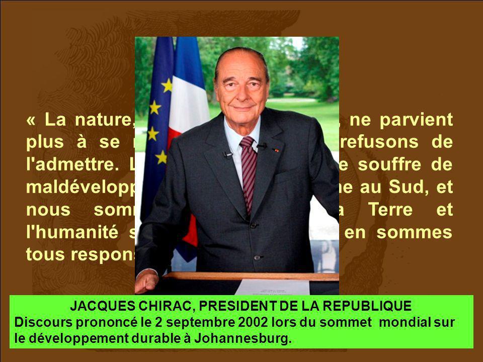 JACQUES CHIRAC, PRESIDENT DE LA REPUBLIQUE