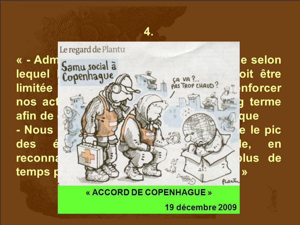 « ACCORD DE COPENHAGUE »