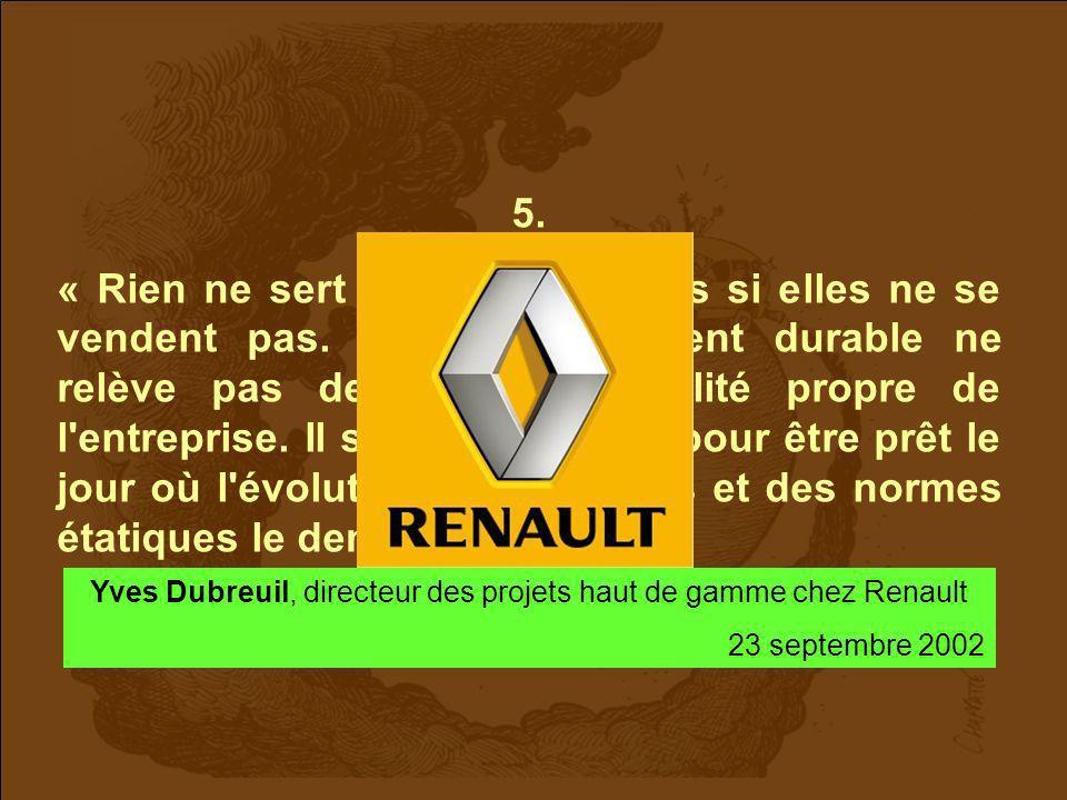 Yves Dubreuil, directeur des projets haut de gamme chez Renault