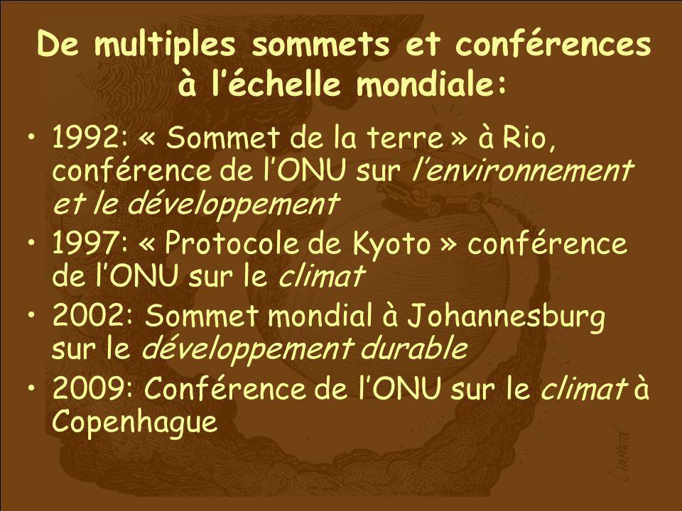 De multiples sommets et conférences à l'échelle mondiale: