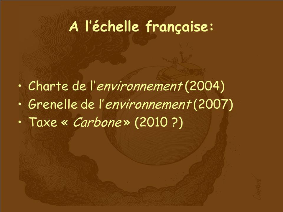 A l'échelle française: