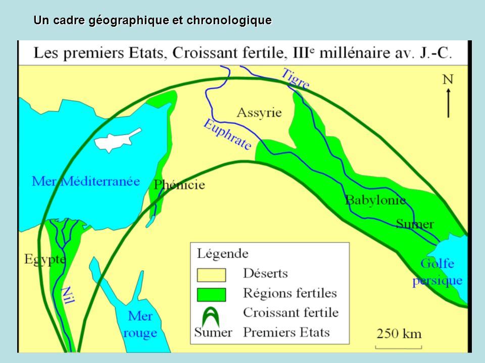 Un cadre géographique et chronologique
