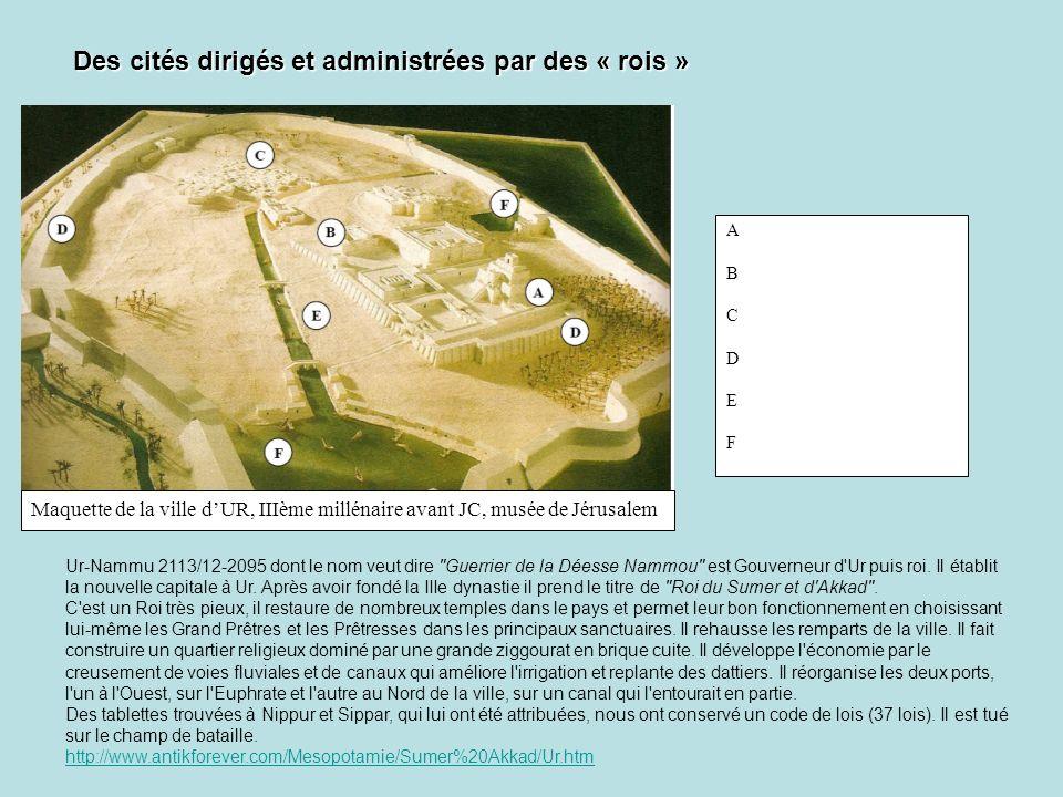 Des cités dirigés et administrées par des « rois »