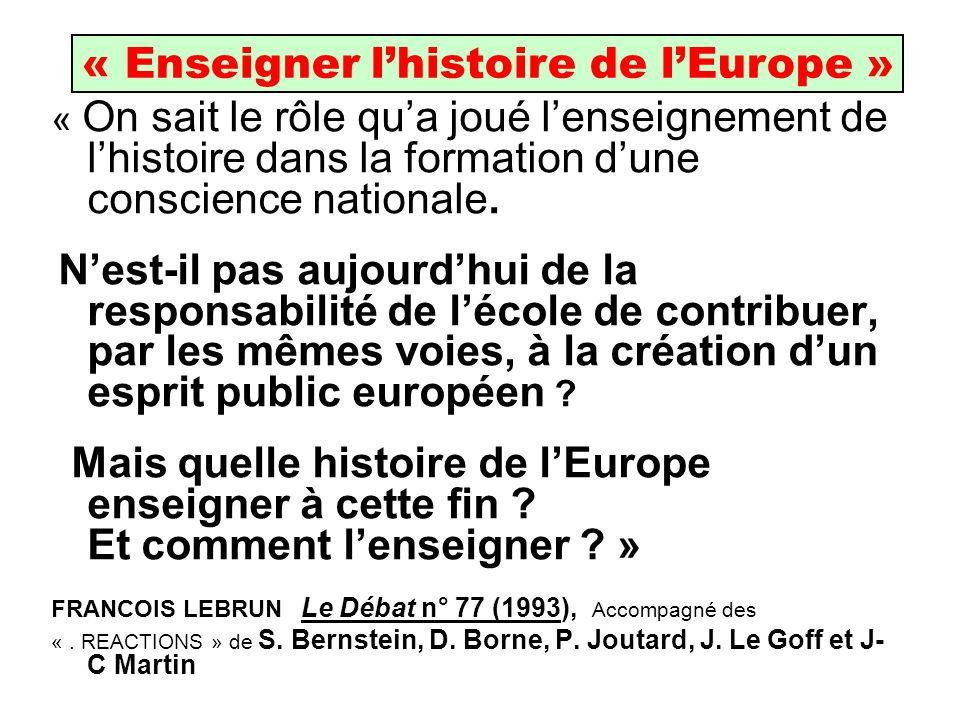 « Enseigner l'histoire de l'Europe »