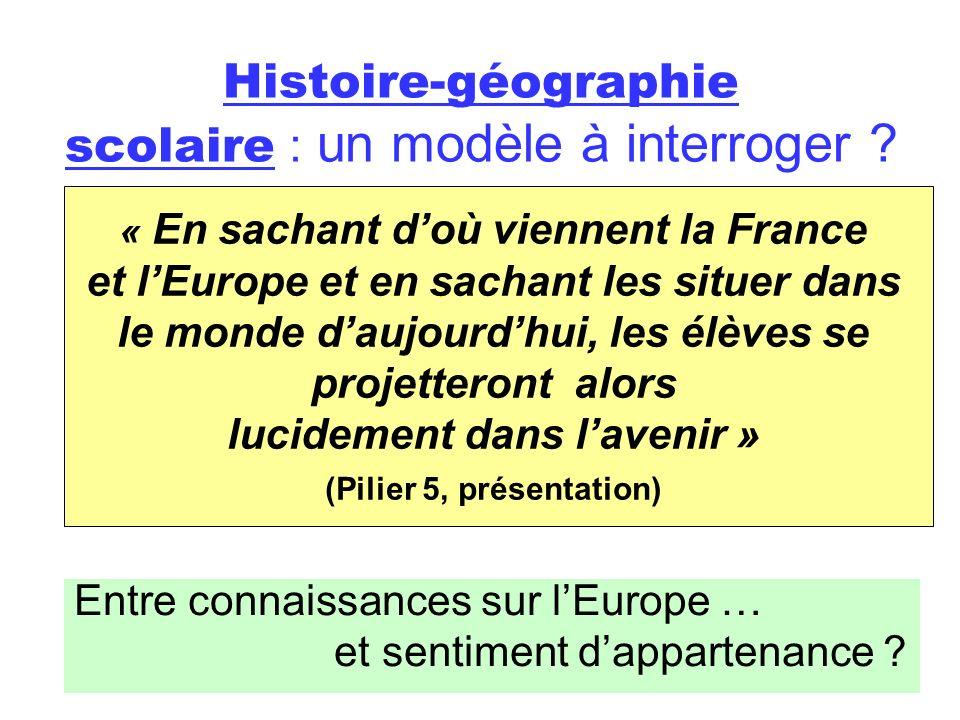 Histoire-géographie scolaire : un modèle à interroger