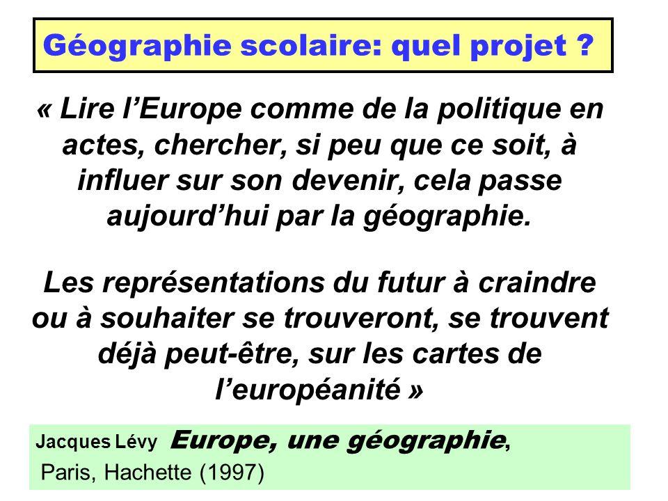 Géographie scolaire: quel projet