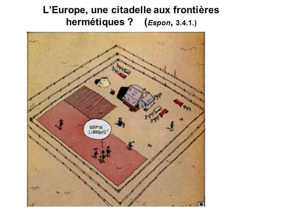 L'Europe, une citadelle aux frontières hermétiques (Espon, 3.4.1.)