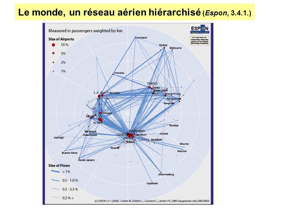 Le monde, un réseau aérien hiérarchisé (Espon, 3.4.1.)