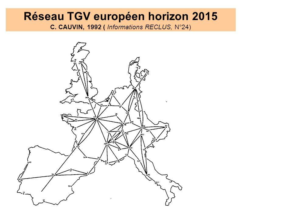 Réseau TGV européen horizon 2015 C
