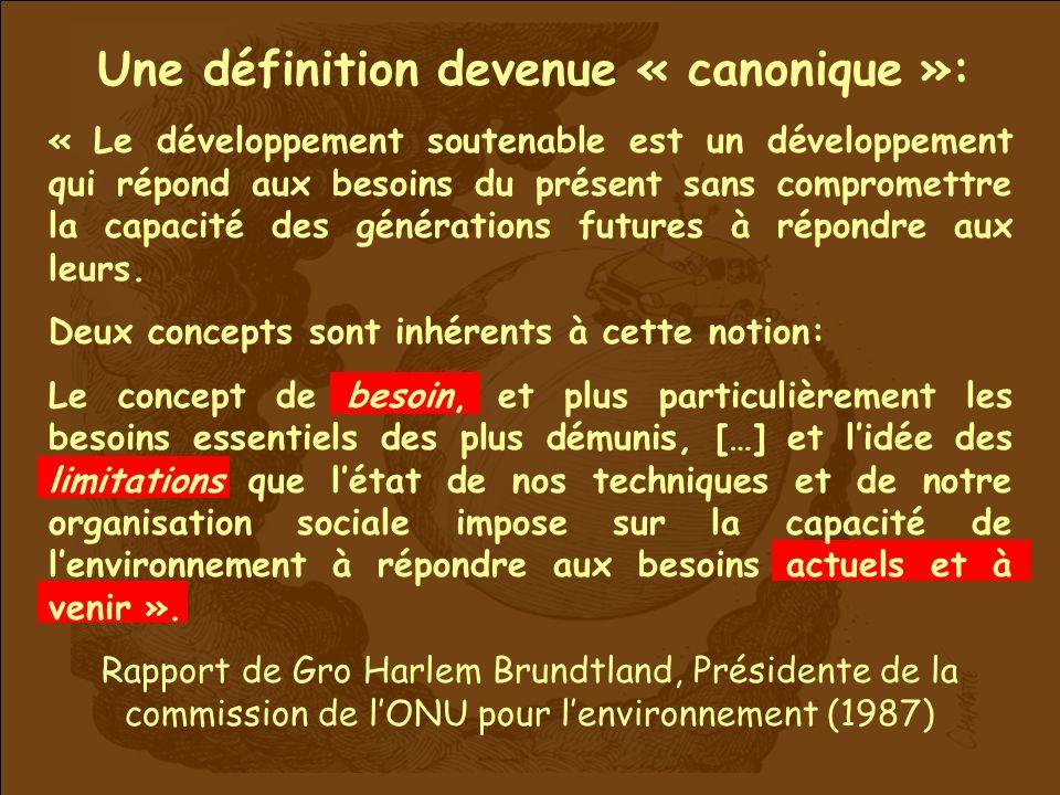 Une définition devenue « canonique »: