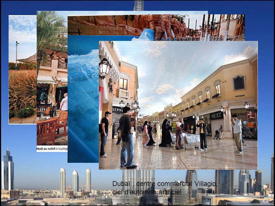 Dubaï : centre commercial Villagio, ciel d'automne artificiel