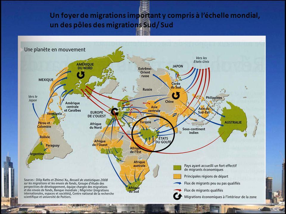 Un foyer de migrations important y compris à l'échelle mondial, un des pôles des migrations Sud/ Sud