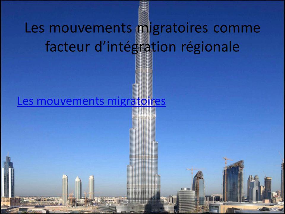 Les mouvements migratoires comme facteur d'intégration régionale
