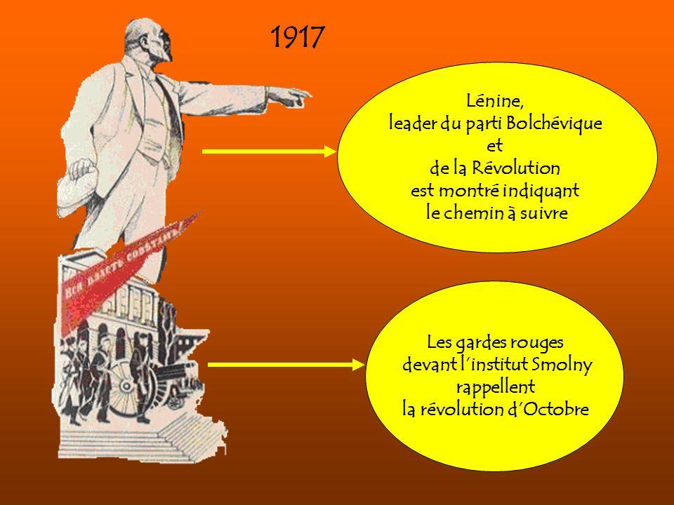 1917 Lénine, leader du parti Bolchévique et de la Révolution
