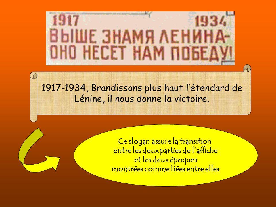 1917-1934, Brandissons plus haut l'étendard de Lénine, il nous donne la victoire.