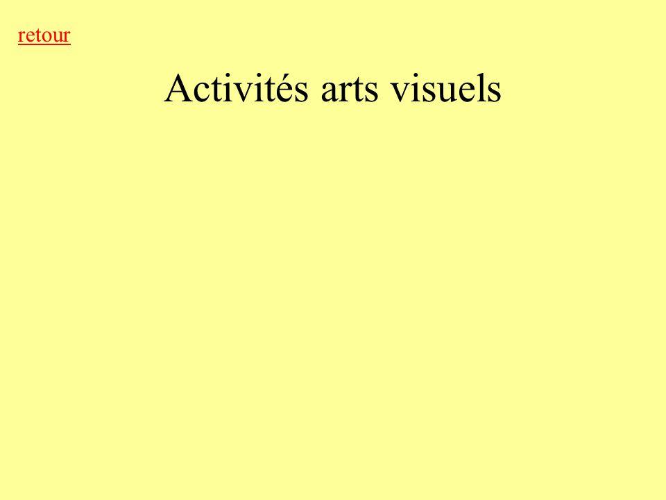 Activités arts visuels