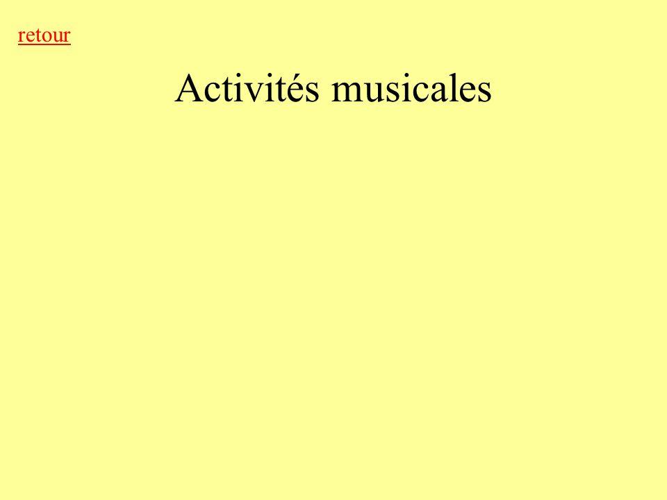 retour Activités musicales