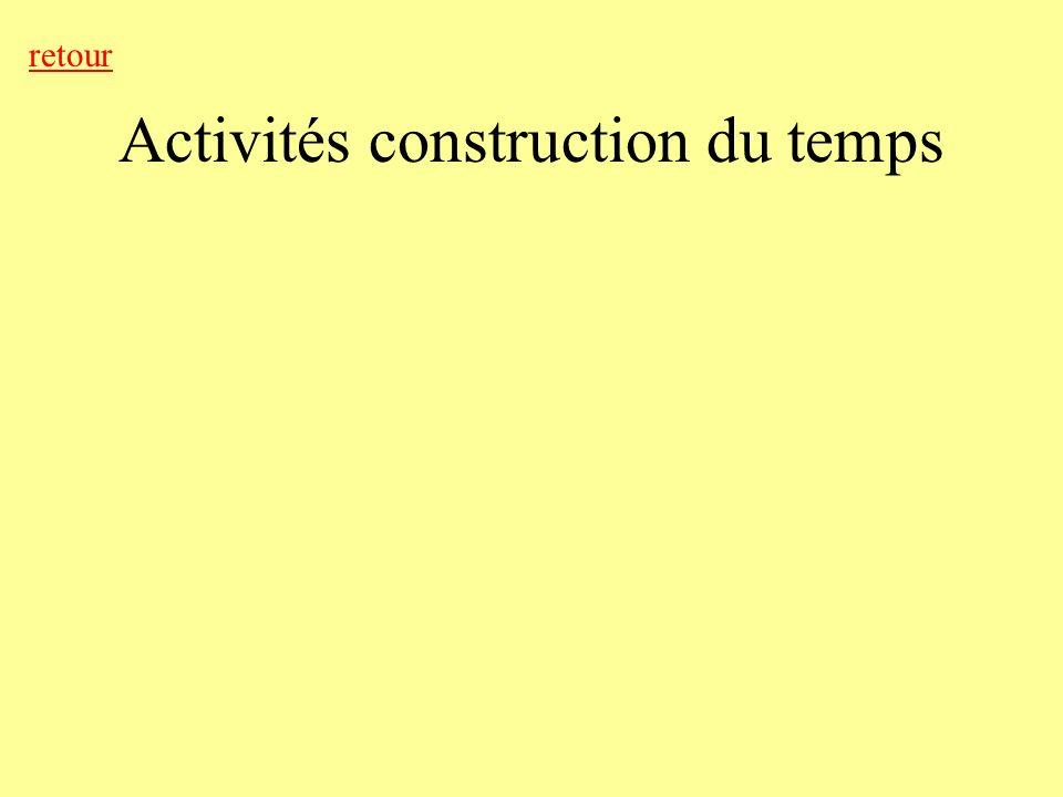 Activités construction du temps