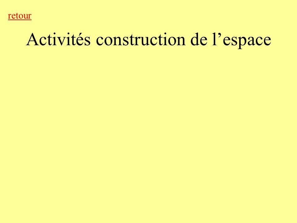 Activités construction de l'espace