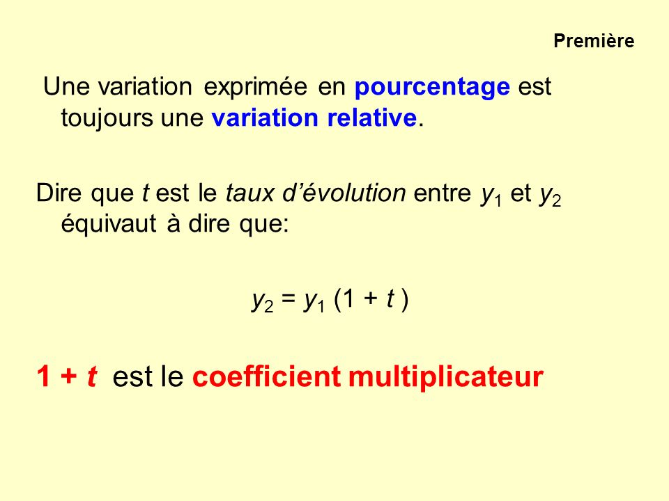 1 + t est le coefficient multiplicateur