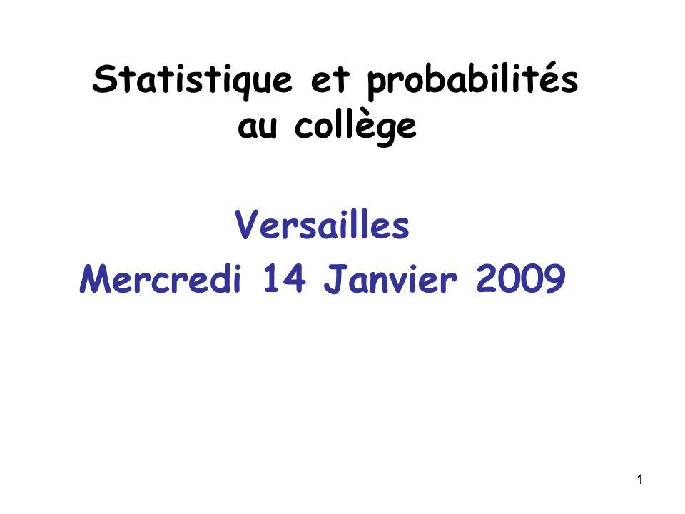 Statistique et probabilités au collège