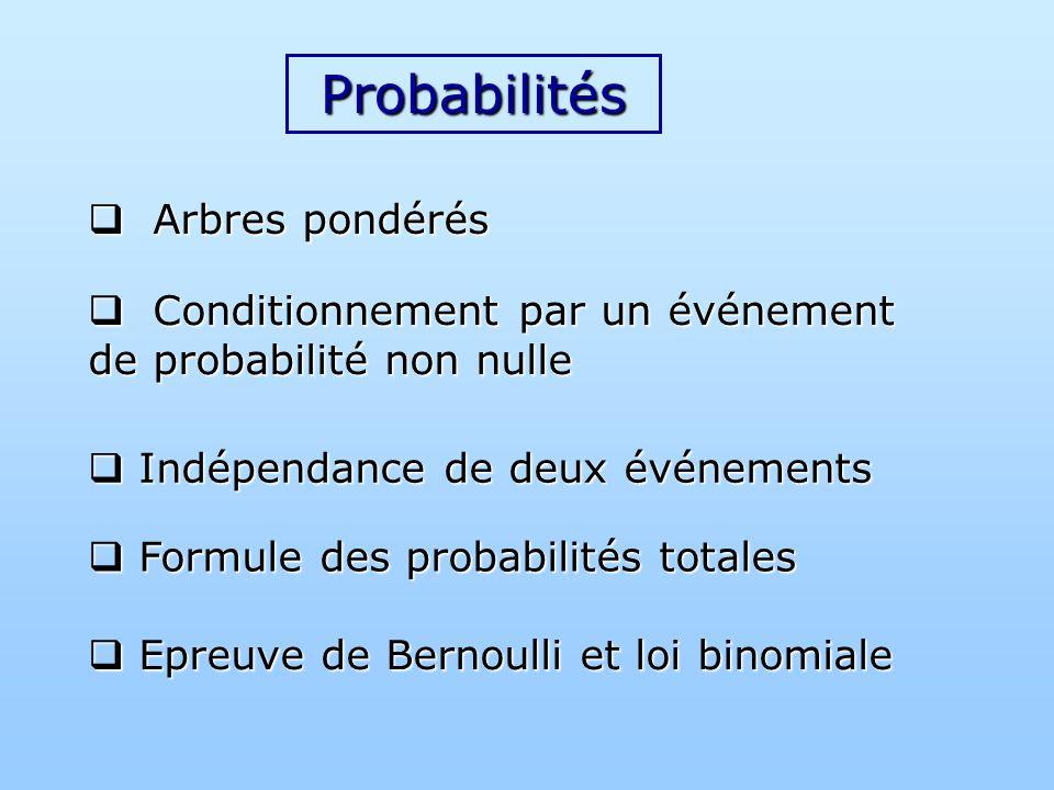Probabilités Arbres pondérés