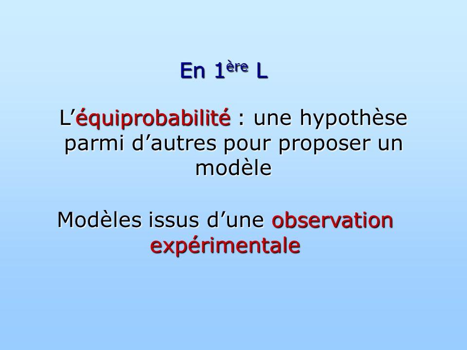 Modèles issus d'une observation expérimentale