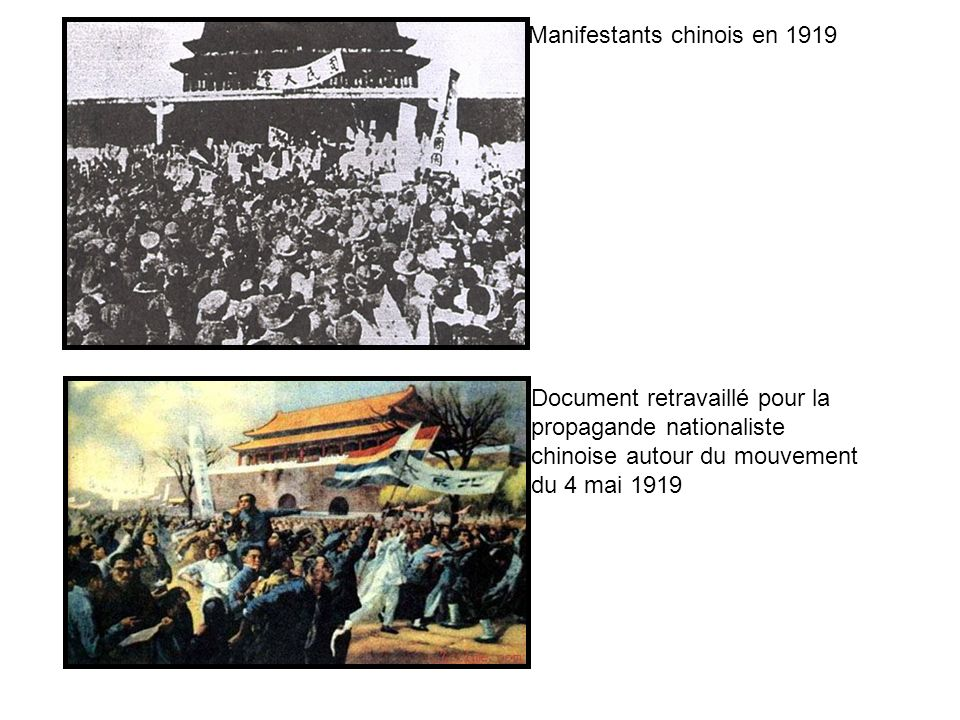 Manifestants chinois en 1919