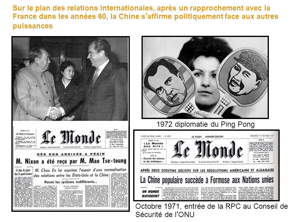 1972 diplomatie du Ping Pong