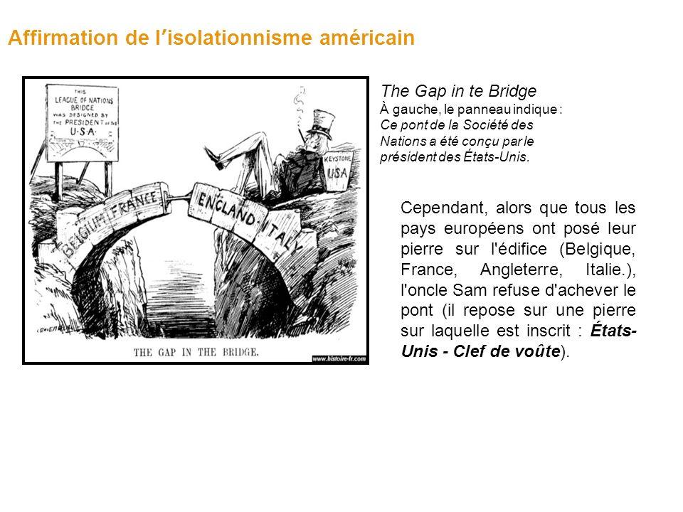 Affirmation de l'isolationnisme américain