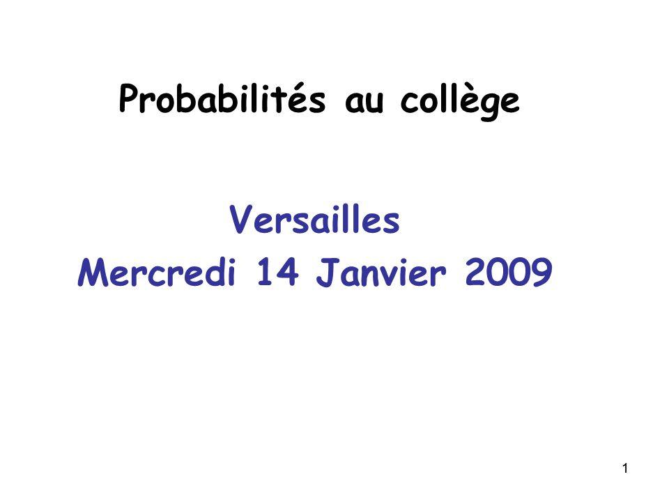 Probabilités au collège
