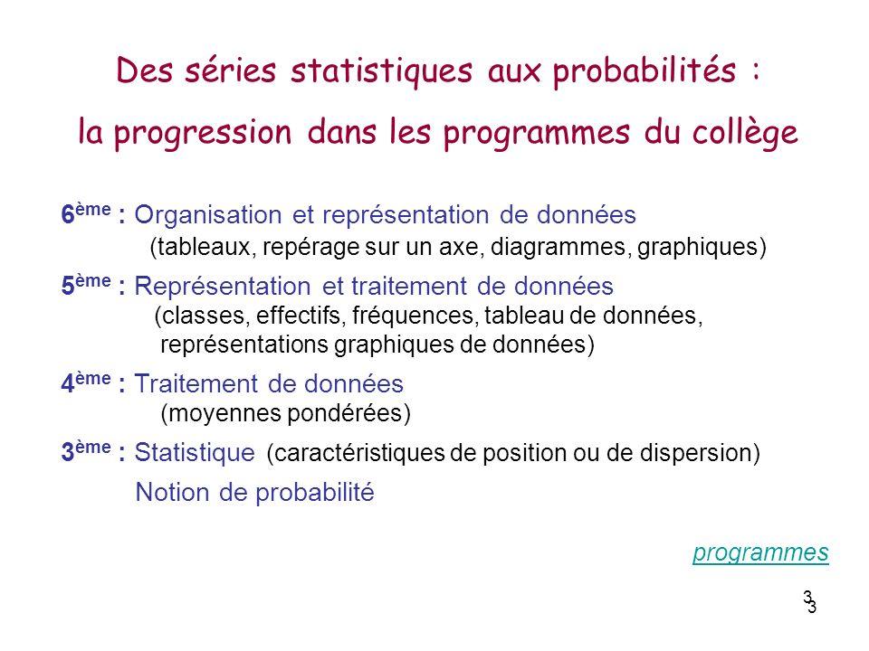 Des séries statistiques aux probabilités :