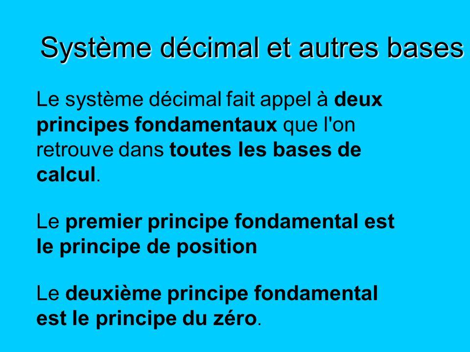 Système décimal et autres bases