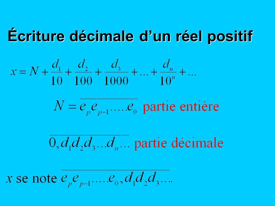 Écriture décimale d'un réel positif