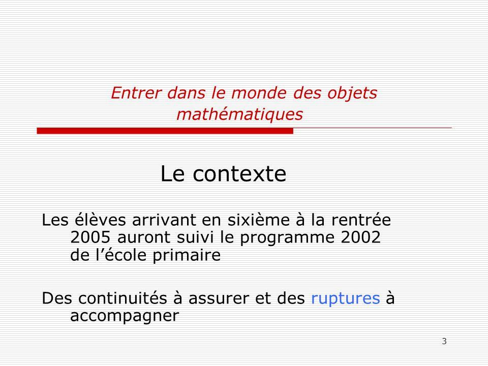 Entrer dans le monde des objets mathématiques