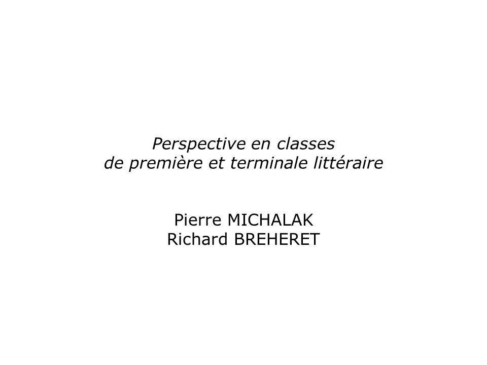 Perspective en classes de première et terminale littéraire