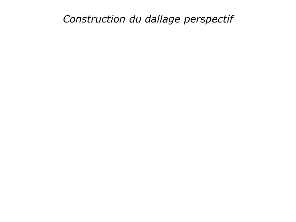 Construction du dallage perspectif