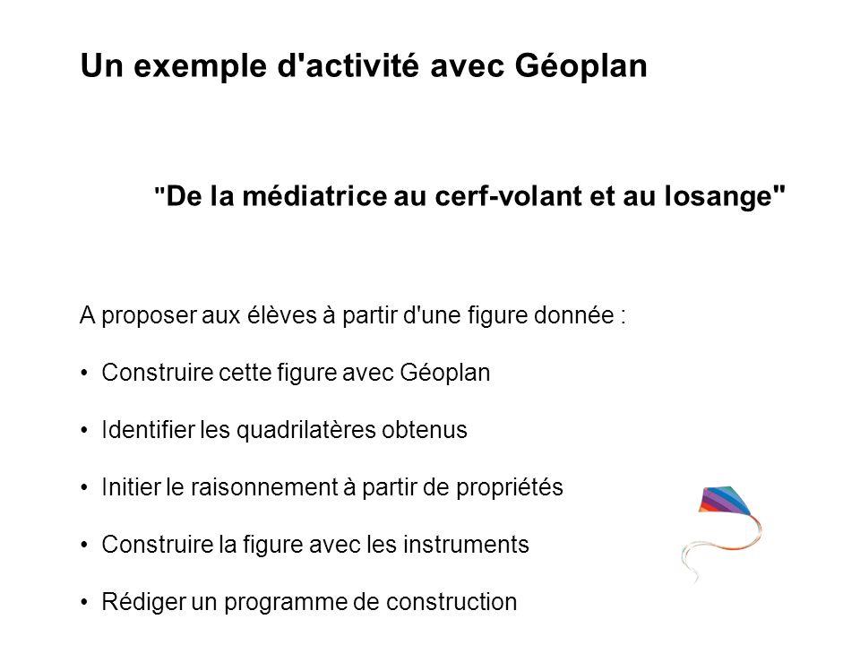 Un exemple d activité avec Géoplan