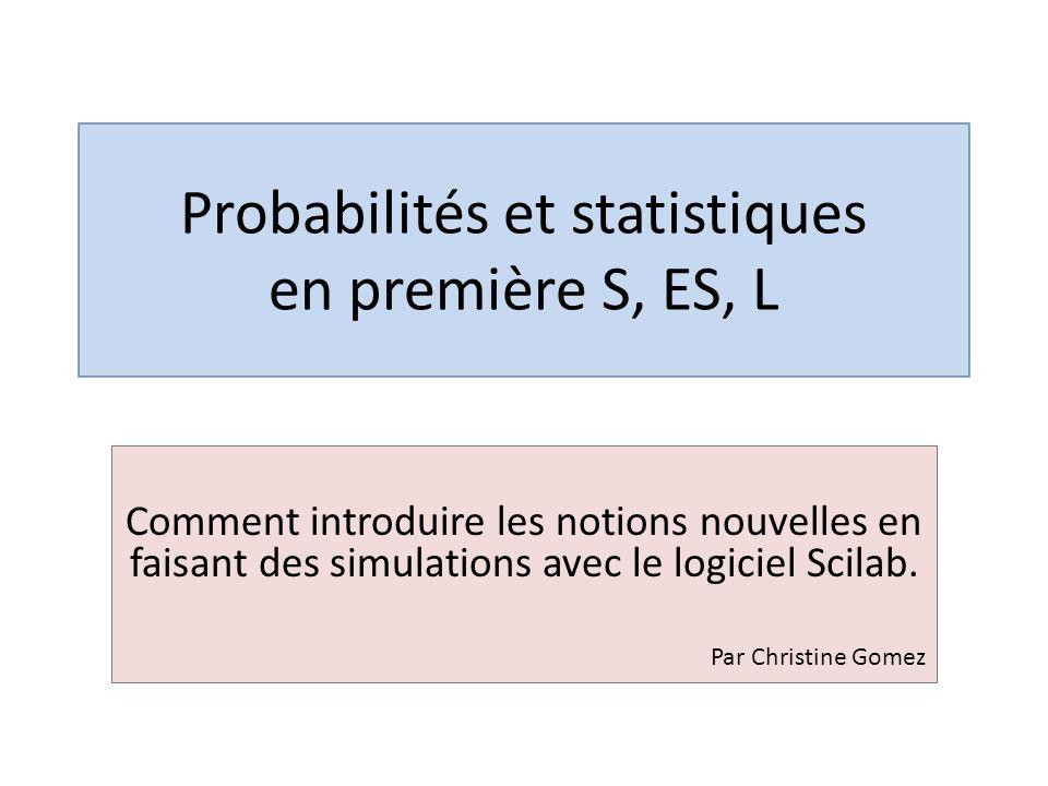 Probabilités et statistiques en première S, ES, L