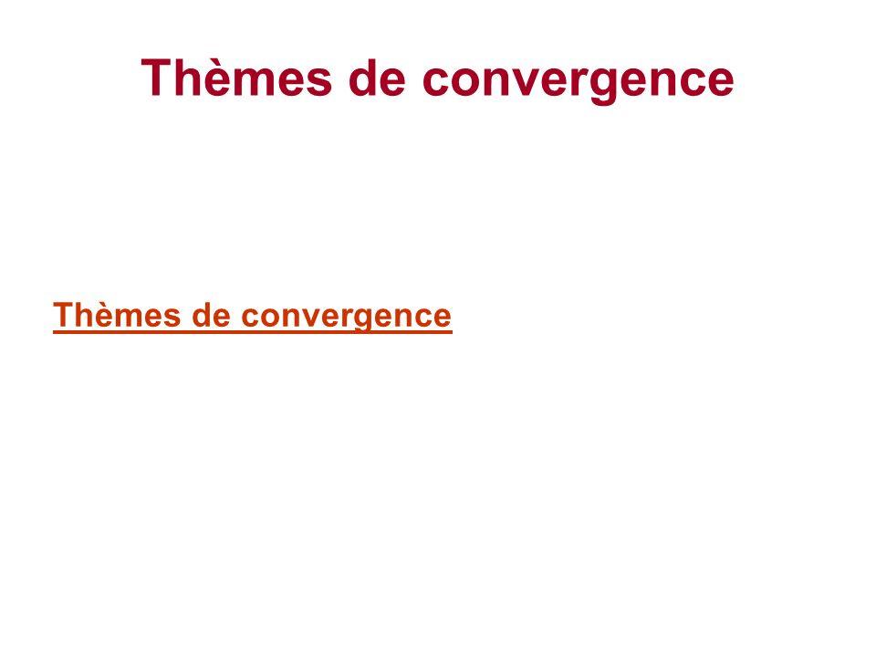 Thèmes de convergence Thèmes de convergence
