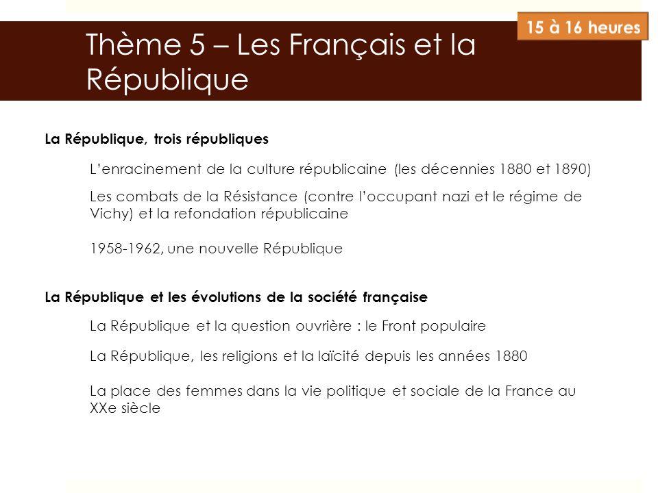 Thème 5 – Les Français et la République